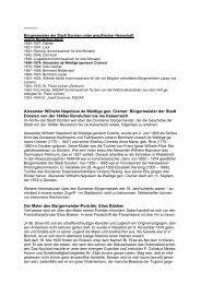 Historische Zusatzinformationen - Stadt Dorsten