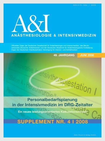 Personalbedarfsplanung in der Intensivmedizin im DRG ... - DGAI