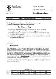 Beschlussvorlage - Stadt Dorsten