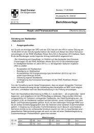 Berichtsvorlage - Stadt Dorsten