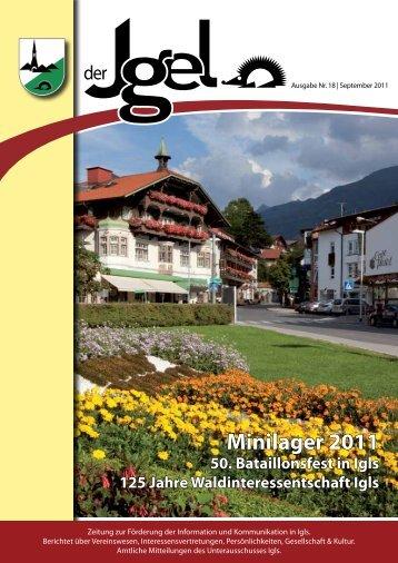 Der Igel 18 – 09/2011 - Heumandl Verlag