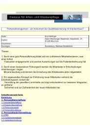 Personalmanagement - ein Instrument der Qualitätssicherung im ...