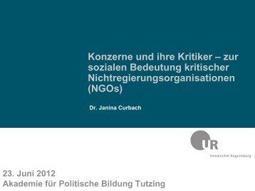 NGOs - Akademie für Politische Bildung Tutzing