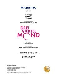 DREIVIERTELMOND Presseheft - MAJESTIC FILMVERLEIH ...