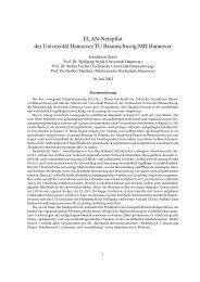 ELAN-Netzpilot der Universität Hannover/TU Braunschweig/MH ...