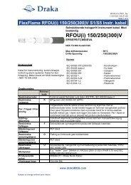 RFOU(i) 150/250(300)V - Draka norsk kabel