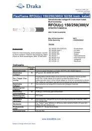 RFOU(c) 150/250(300)V - Draka norsk kabel
