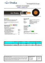 XMK 1xA 0,6/1 kV - Draka