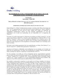 Draka Holding kondigt details aan van aandelenemissie ter