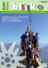 Blickpunkt 44 - Deutscher Alpenverein Sektion Hanau