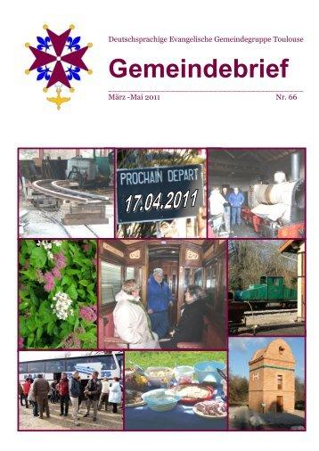 Gemeindebrief - Deutsche Gemeinde Toulouse