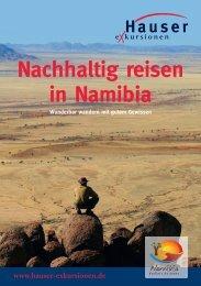Nachhaltig reisen in Namibia - Hauser exkursionen