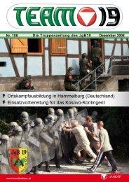 Die Truppenzeitung des JgB19 Nr. 108 Dezember 2008