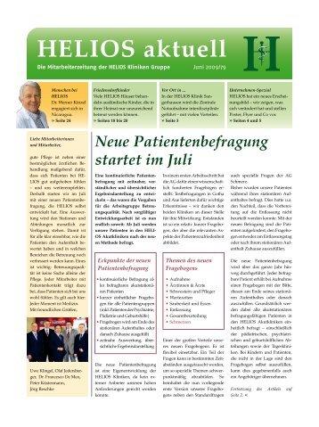 Neue Patientenbefragung startet im Juli - HELIOS Kliniken GmbH