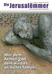 """Grußworte zur 100. Ausgabe """"Die Jerusalëmmer"""""""
