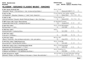 klassik - gesang/ classic music - singing