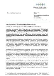 Presseinformation - Kliniken des Bezirks Oberbayern
