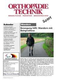 Bewegung hilft: Wandern mit Beinprothese - OT-Forum