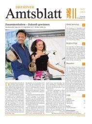 Zusammenhalten – Zukunft gewinnen - Dresdner Amtsblatt