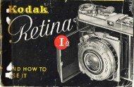 Kodak Retina Ia instruction instructions(pdf)