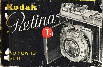 Kodak Retina Ia instruction instructions(pdf)