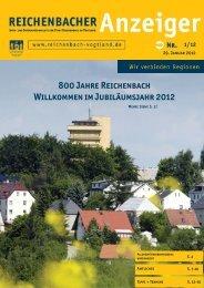 800 Jahre Reichenbach Willkommen im Jubiläumsjahr 2012