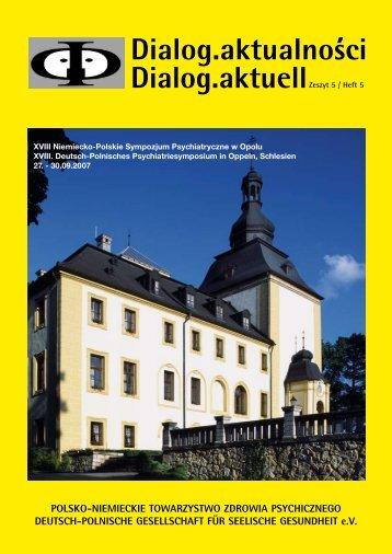 Dialog.aktualnosci Dialog.aktuellZeszyt 5 / Heft 5 POLSKO ...
