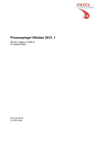Pressespiegel Oktober 2012_1 - Swiss-Sailing