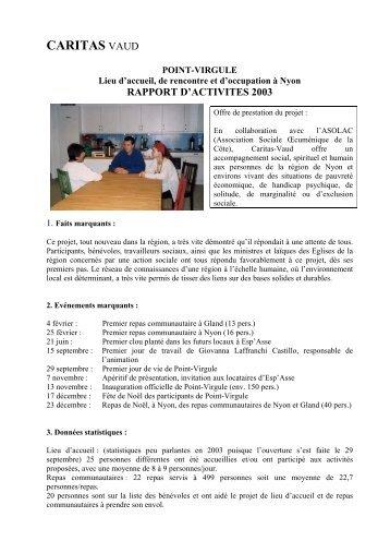 COURS DE FRANÇAIS Pour adultes migrants à - Caritas Vaud