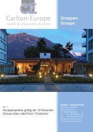 Seminare – Konferenzen - Hotel Carlton Europe