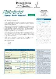 Mandantenbrief Blitzlicht MM/2007 - Dostal & Rettig