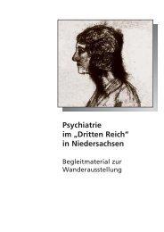 """Psychiatrie im """"Dritten Reich"""" in Niedersachsen - Dr. Raimond Reiter"""
