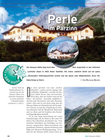 Perle im Parzinn - Deutscher Alpenverein