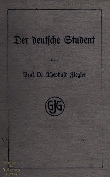 Der deutsche Student am Ende des 19. Jahrhunderts