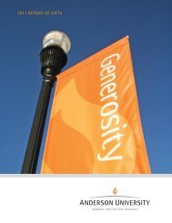 music major - Anderson University