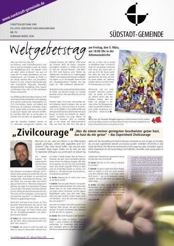 Zivilcourage - Ev.-luth. Südstadt-Kirchengemeinde