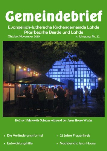 Gemeindebrief - Ev.-luth. Kirchengemeinde Lahde
