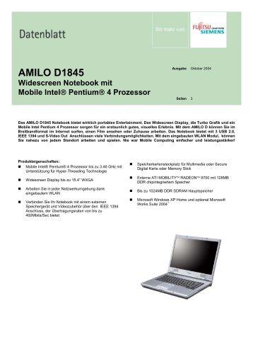 AMILO D1845 Widescreen Notebook mit Mobile ... - o.v.e.r.clockers.at
