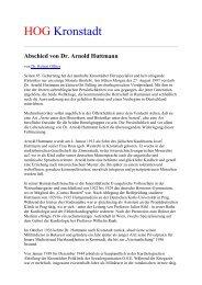 Abschied von Dr. Arnold Huttmann - HOG Kronstadt