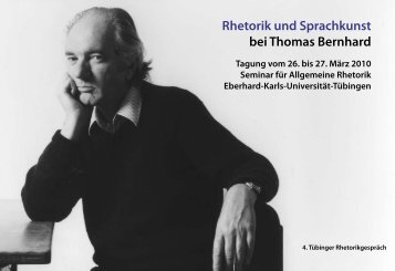 Rhetorik und Sprachkunst bei Thomas Bernhard - Universität ...