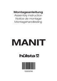 Montageanleitung Assembly instruction Notice de montage ...