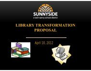 library transformation - Sunnyside Unified School District