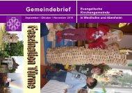 Gemeindebrief Evangelische - Evangelische Kirchengemeinde ...