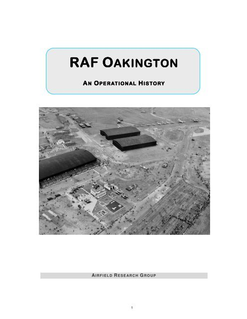 raf oakington an operational history - The Airfield Research ... on