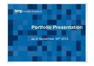Media & Marketing Services - bmp media investors