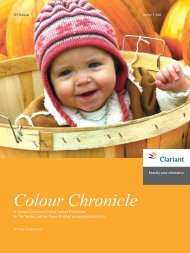 Colour Chronicle - Oct 2008 - Clariant
