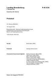 Landtag Brandenburg P-AI 5/34 Protokoll