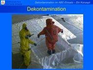 Dekontamination im ABC-Einsatz – Ein Konzept - ABC-Gefahren