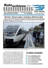 schiene Ruhr - Pro Bahn NRW