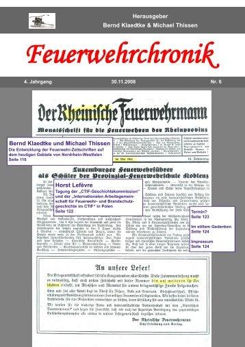 Im stillem Gedenken Heinz Gläser - Feuerwehrchronik